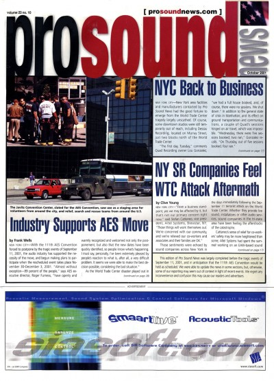 Oct 2001   |   The Post House Inc.   |   Sound Post