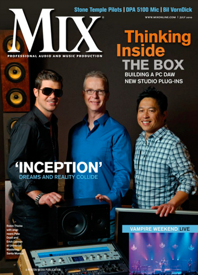 Jul 2010   |   Universal Music Group   |   Mix Magazine Cover   |   Feature